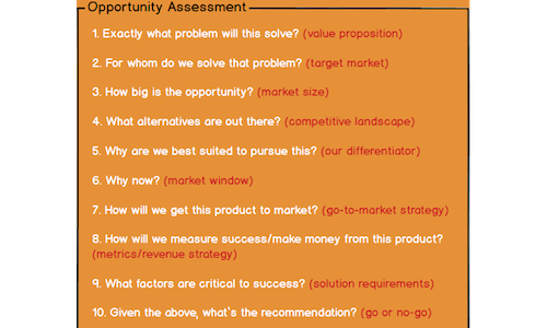 assessing product opportunities